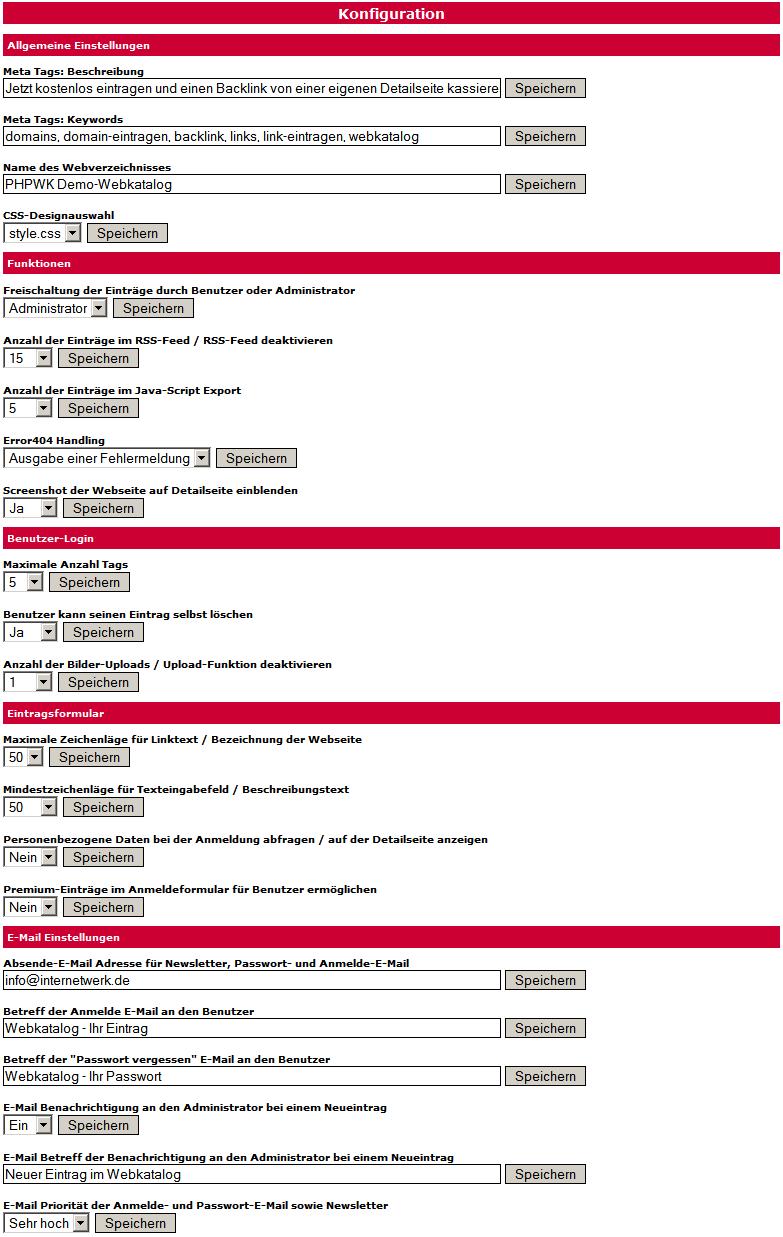 Webkatalog- und Branchenbuch-Script Kategorie anlegen